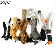 Squeaky Fun Dogs Animal Shape Toys Gift Set Large Non Stuffed Squirrel Fox Raccoon for Chew  Dog Wolf