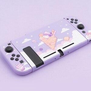 Мягкий чехол Geekshare для Nintendo Switch из ТПУ с изображением фиолетового звездного неба мороженого кота сказочной Лиги Запасные части      АлиЭкспресс