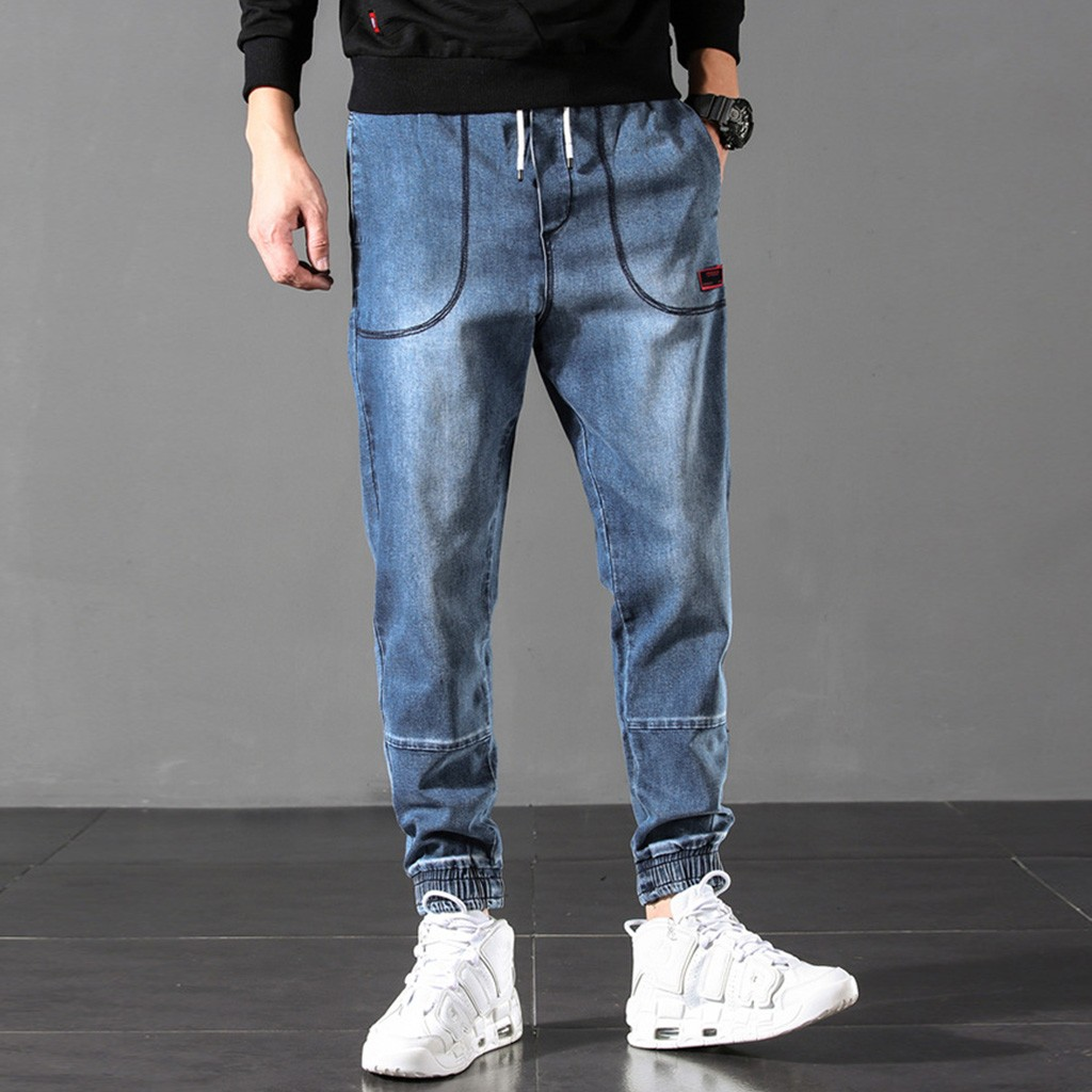 2019 New Summer Mens Cargo Pants Men Joggers Military Casual Solid Demin Pants Causal Straight Jeans For Mens Big Size