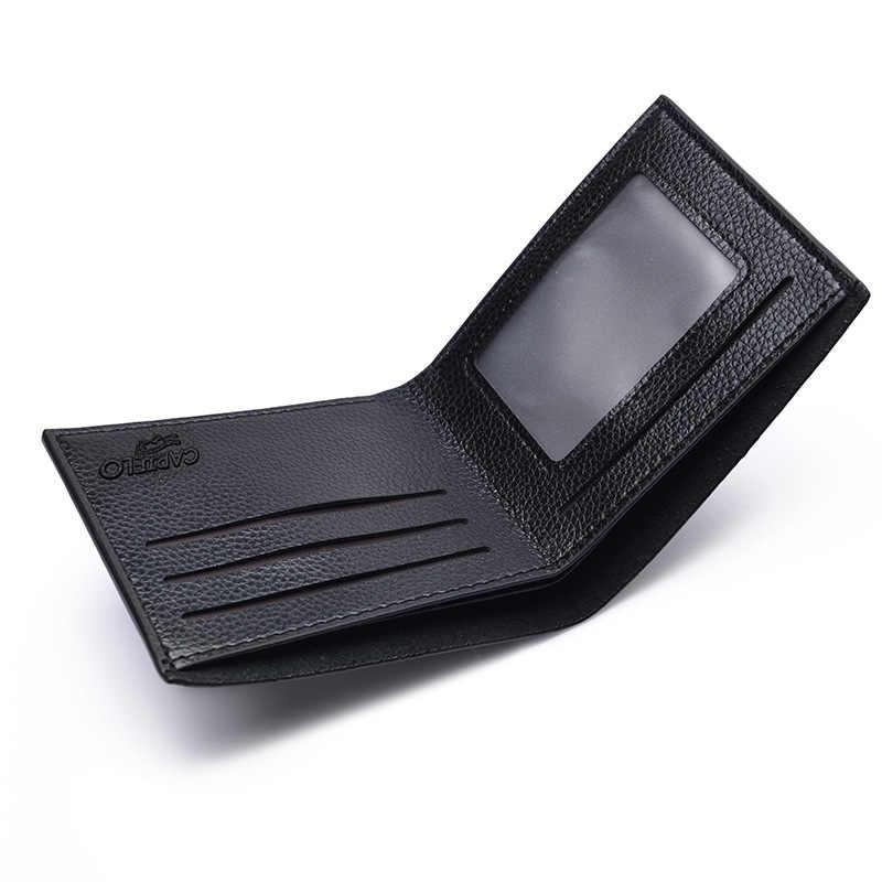Uomo Semplice Raccoglitore di Modo Della Borsa di Sesso Maschile casual Porta Carte di Cassa Del Telefono Morbido