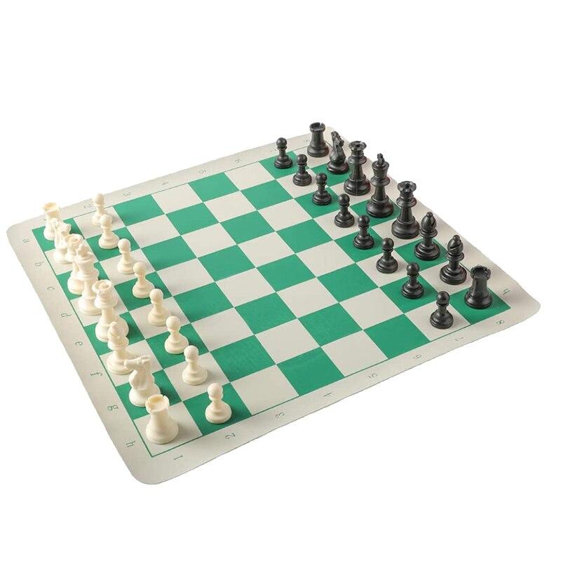 Torneio de Xadrez de Viagem Conjunto de Roll Conjunto de Jogo de Tabuleiro de Xadrez de Vinil em Transporte Jogo de Xadrez para Crianças e Adultos Ponderada up 43x8cm Mod. 312203