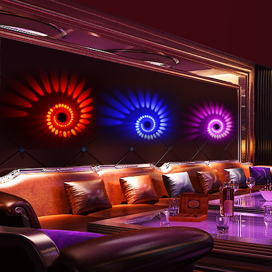 H9b897b37cee54f5892f5043d02f6be68Y Modern LED Ceiling Light 3W RGB Porch Lamp Surface Mount Flush Lighting Fixture Balcony Corridors Living Room Decor