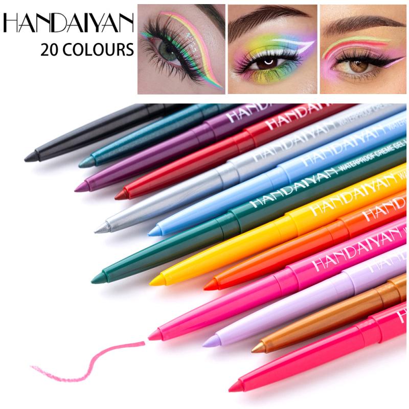 1PC 20 Colors Ultra fine Eyeliner Gel Professional Long lasting Waterproof And Sweat proof White Black Eye Liner Makeup TSLM2