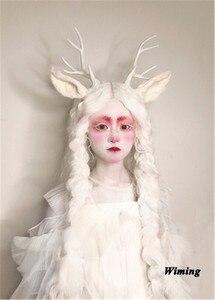Реалистичные Doe оленьи рога () и милые уши 3D Рождественские ободок Девушки Женщины оленьи рога comic-con реквизит