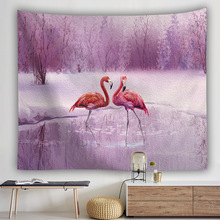Flamingo Series Wall Hanging Tapestry Number Printing Bohemia Cloth Tapestries Thin Polyester Bedroom Decoration Yoga Mat