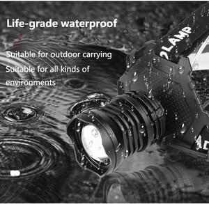 Image 4 - Lampe frontale led XHP90.2 haute puissance, lampe torche rechargeable usb, éclairage pour la pêche en randonnée, 18650, batterie externe mAh, 8000