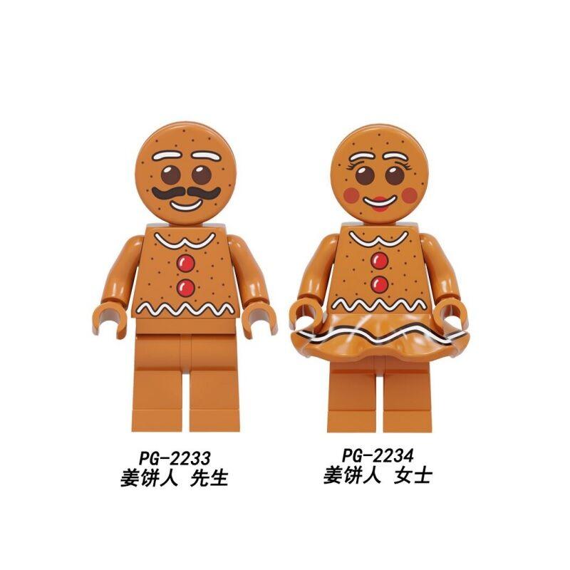 Building Blocks Gingerbread Man Merry Christmas Gift Medusa Rocket Boy Unicorn Figures Bricks Action Toys Kids PG2233 PG2234