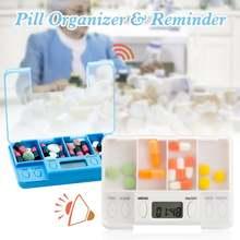 8 groups of alarm clocks smart pill dispenser automatic portable