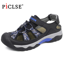 Summer Men Beach Sandals Big Size ExtraWide Men Sandals Outdoor Walking Beach Shoes Breathable Casual Men Shoes zapatos hombre