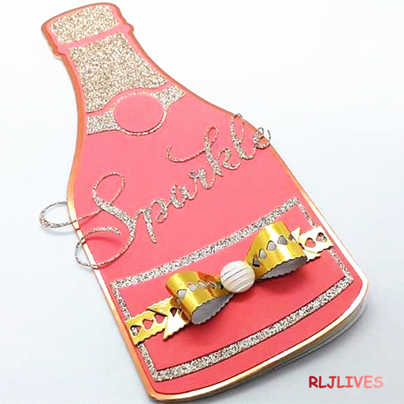 Champagne Bottle Metal Cutting Dies Stencils For DIY Scrapbooking Stamp/photo Album Decorative Embossing DIY Paper Cards