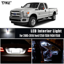 For 2005 2016 Ford F250 F350 F450 F550 White Car Accessories Canbus Error Free LED Interior Light Reading Light Kit Map Dome