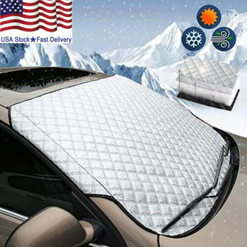 WINDSCREEN COVER Car Window Screen sunlight Frost Ice Snow Dust Protector image
