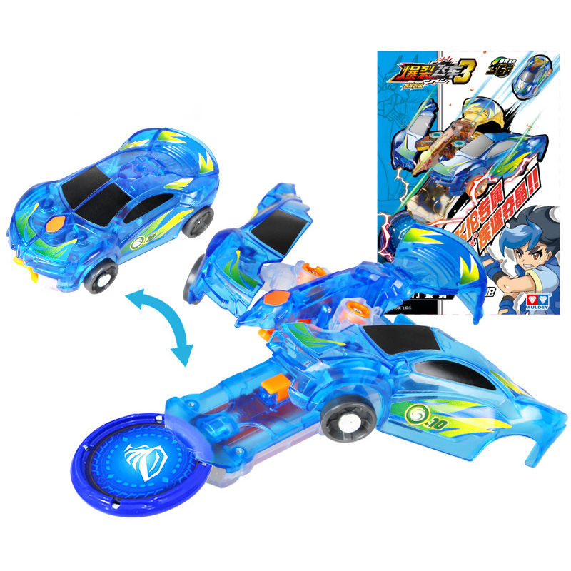 Classic Reproduce Screechers Wild AULDEY Burst Speed Deformation Car Action Figure 360 Degree Burst Transformation Car Toy