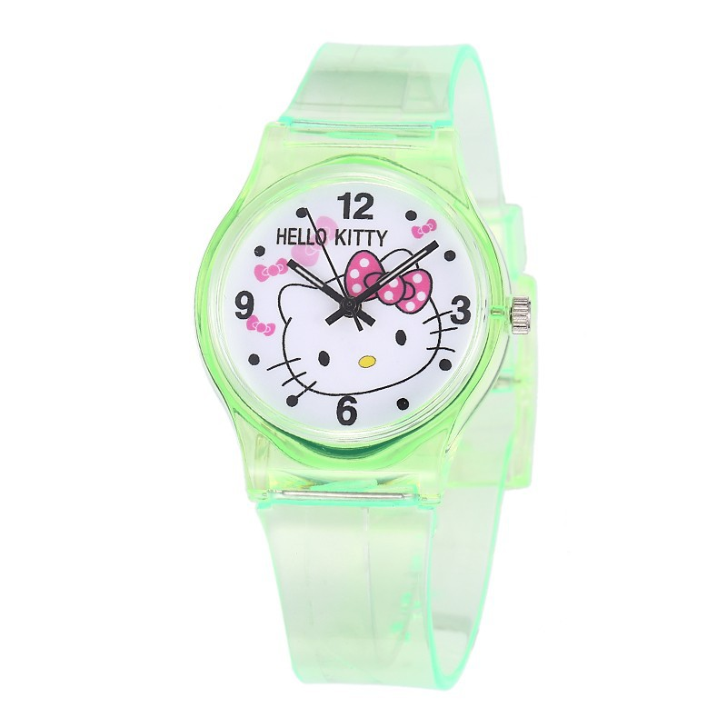 Children Kitty Quartz Watch Hodinky Kids Cartoon Colorful Numerals Rubber Watch Girls Drop Shipping  ceasuri Zegarek Dzieciecy