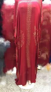 Image 4 - طول الفستان: 145 سنتيمتر فساتين موضة جديدة بازين طباعة Dashiki المرأة طويلة/نمت Yomadou اللون نمط المتضخم