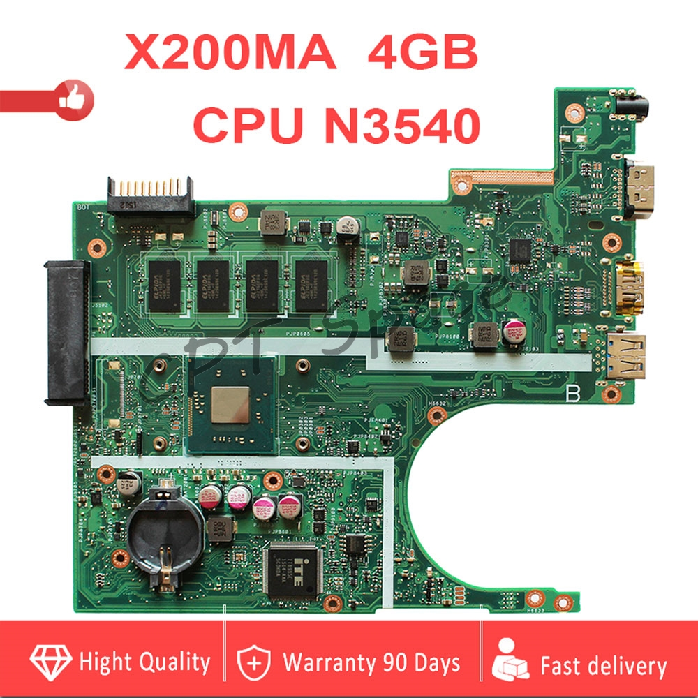 N3540 X200MA motherboard REV2.1 4GB RAM For ASUS K200MA F200MA X200MA X200M Laptop Mainboard 100% tested intact-in Motherboards from Computer & Office    1