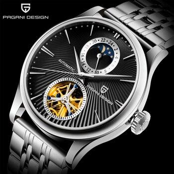 цена PAGANI DESIGN Mechanical Watches For Men Luxury Automatic Watch Men Waterproof Steel Business Watch Clock Relogio Masculino 2020 онлайн в 2017 году