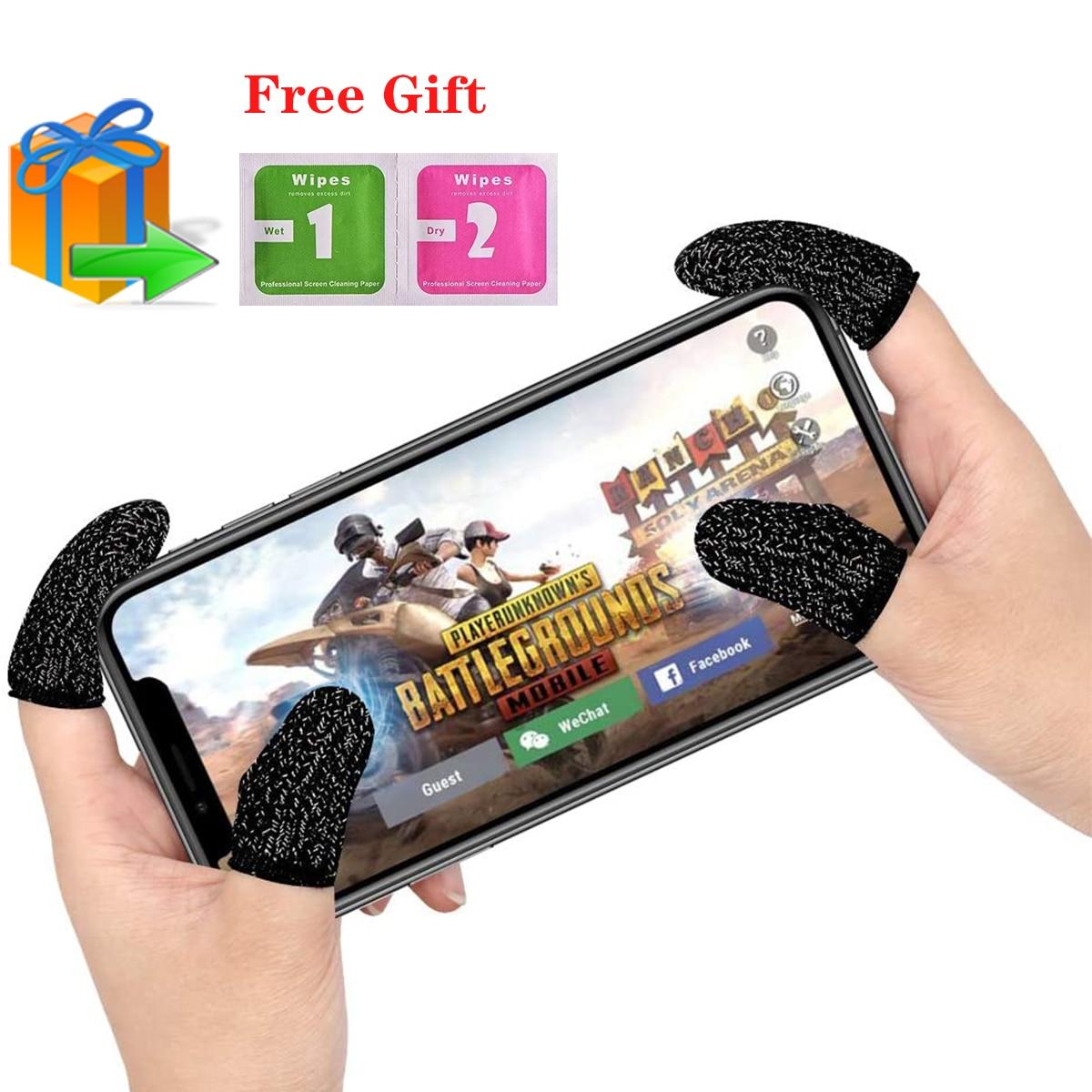 6pcs Game Finger Gloves For Touchscreen Thumb Finger Sleeve For Sensitive Shoot Aim Sweat Proof Finger Cots Gaming Gloves