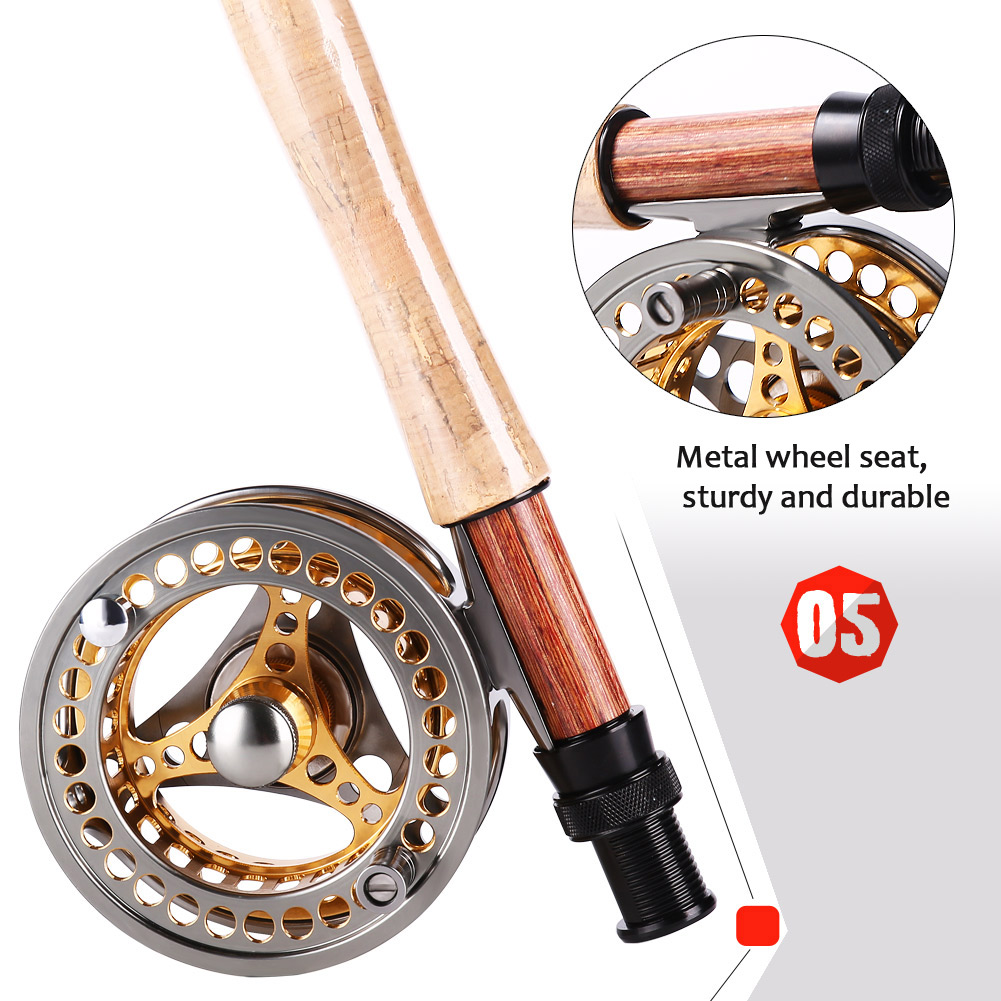 Sougayilang Large Arbor Fly Fishing Reel 2+1 BB High Die Casting Aluminium Alloy Spool Fly Reels Fishing Tackle 18