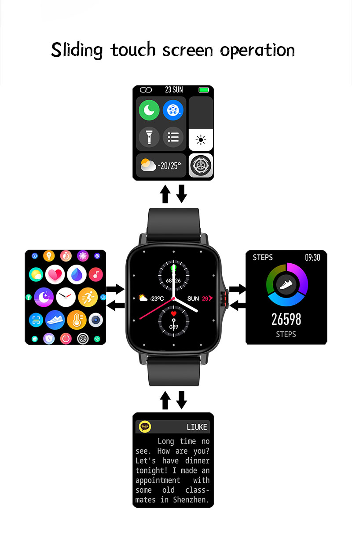 Gts 2 relógio inteligente fm08 masculino bluetooth