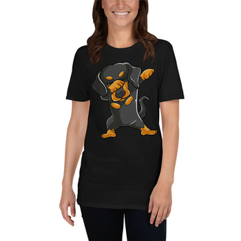 Dabbing Dachshund Dog Dab Funny Gift Idea For Men Women Kids T-Shirt Diy Prited Tee Shirt