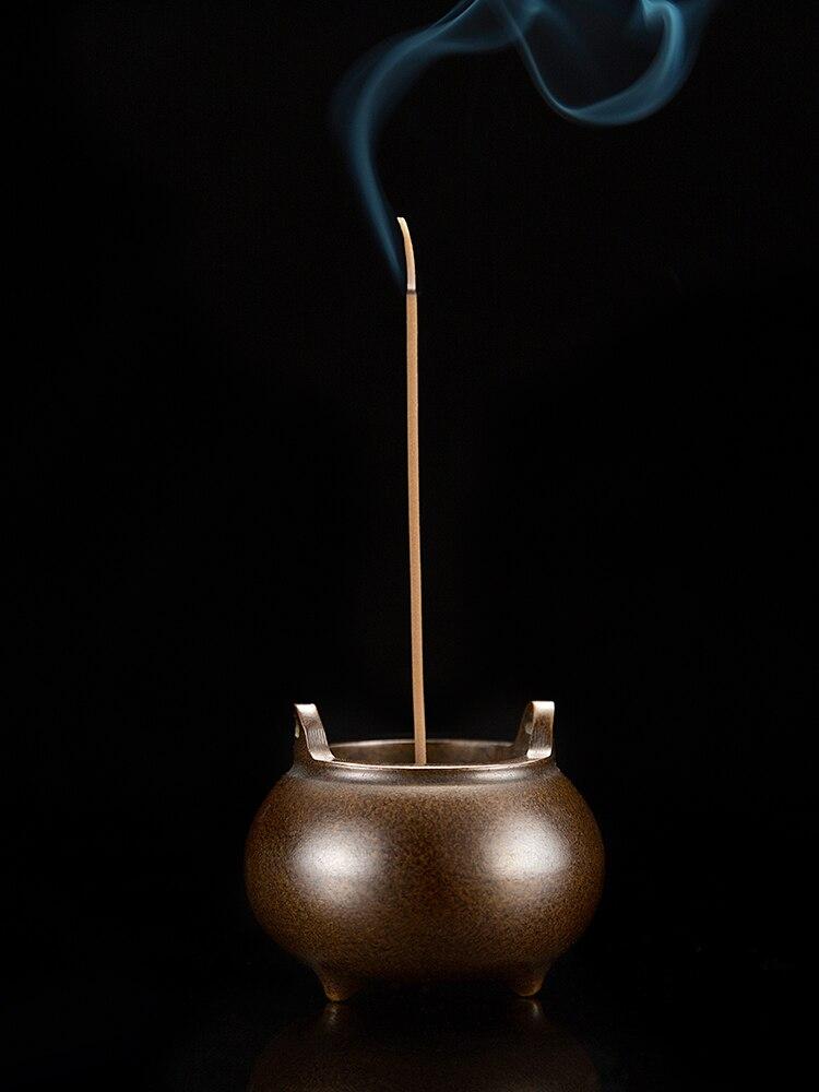 Aromatherapy Alloy Mini Incense Burner Metal Base Portable Incense Burner Buddha Quemadores Incienso Aroma Oil Burner KK60XL