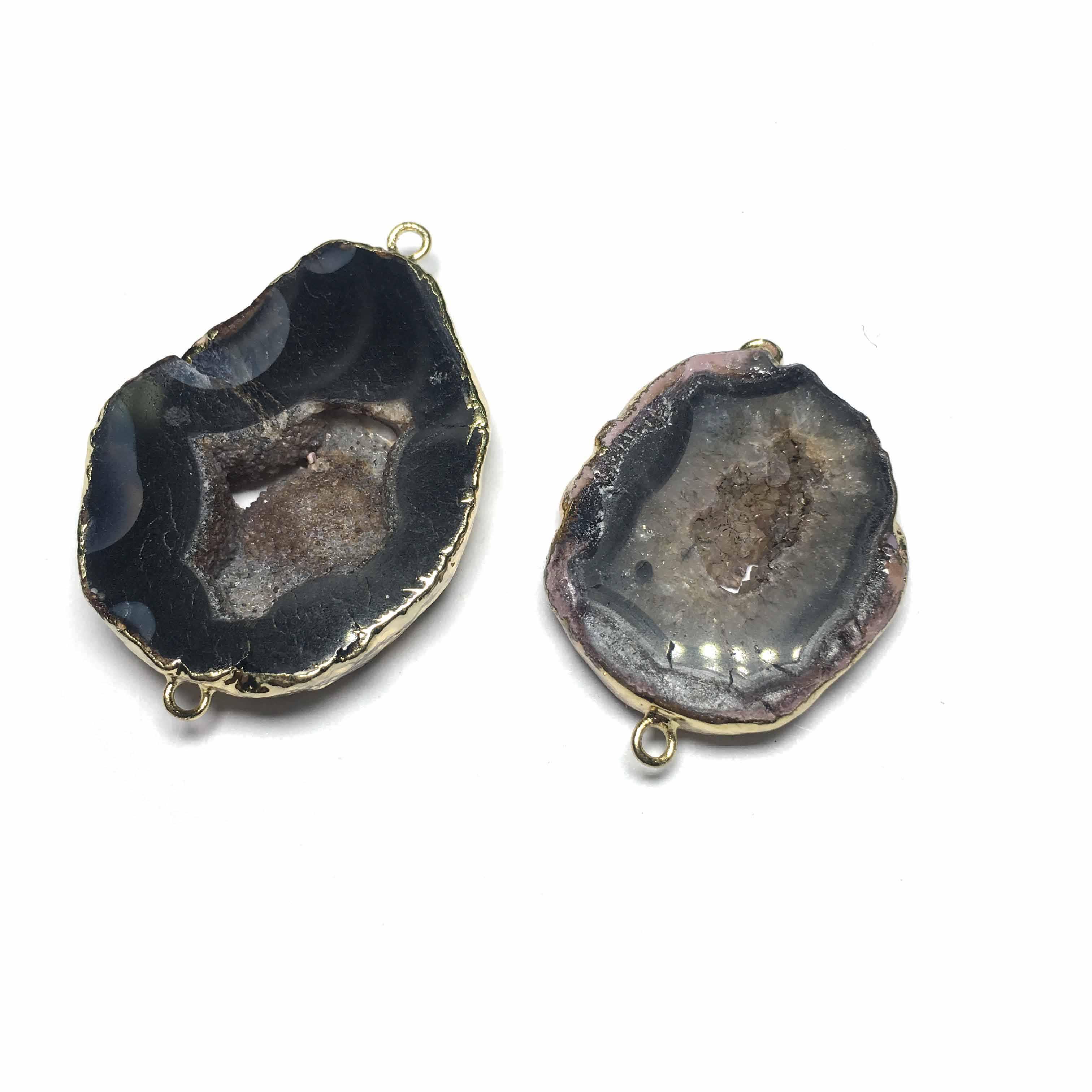 Nouveau connecteur de pendentif breloques en pierre naturelle pour la fabrication de bijoux pour hommes