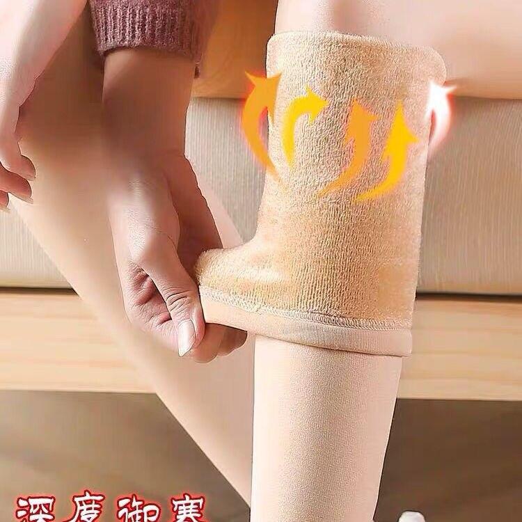 Diz çorap üzerinde kış kadın isıtıcı kalınlaşmak termal peluş çorap kaymaz uyluk sonbahar uyluk yüksek uzun kızlar için bayanlar