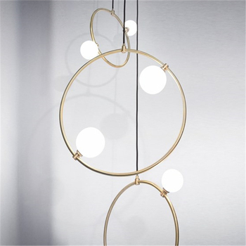Creative Art Maison Déco Anneau Verre Pendentif Lumières Moderne Salon Chambre Luxe Pendentif Lampe Cuisine Suspendus Lampes Luminaire
