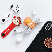 1pcs Cartoon Cable Protector Data Line Cord Protector Protective Case Cable Winder(China)