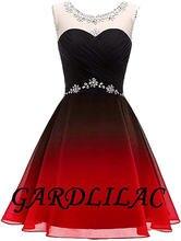 Gardlilac 2020 черно красное платье для выпускного вечера с