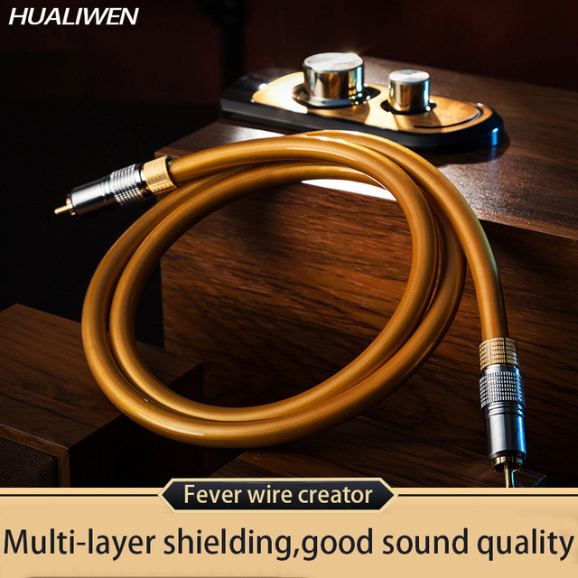 Luxury HIFI Subwoofer Cable for speaker car audio home theater RCA Male to Male Digital Coaxial Audio Video SPDIF Cable