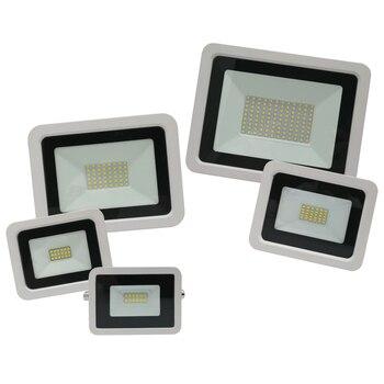 Reflector LED de 100W, 50W, 30W, 20W, 10W, Reflector blanco Ultra delgado, Reflector de luz de inundación, para exteriores, 230V, IP68, impermeable
