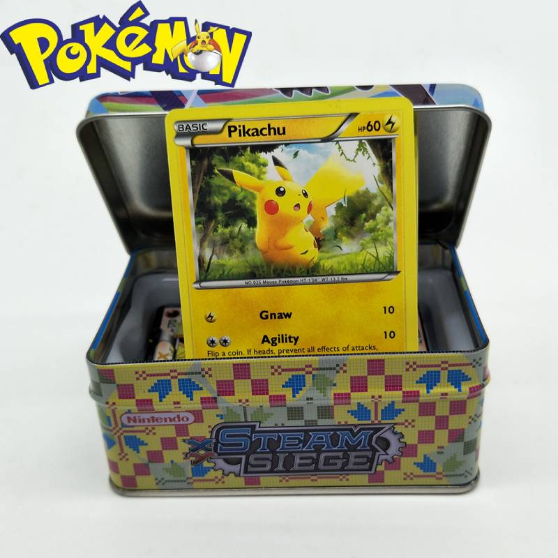 42pcs Kids Pokemon Card MEGA Pokemons 42 Cards Box GX Luminous  Games Battle Trolley Trade Game Toys Yugioh