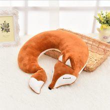 Новая подушка для путешествий с лисой u образная Подушка Милая