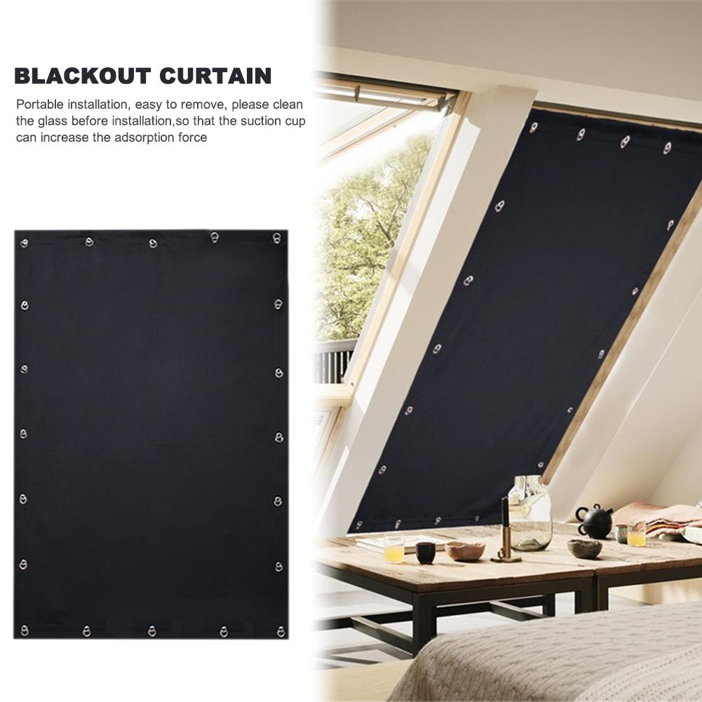 Temporary Blackout Curtains Blinds Household Folding Curtains Children's Room Portable Travel Curtains Roof Car Sunshade Cloth