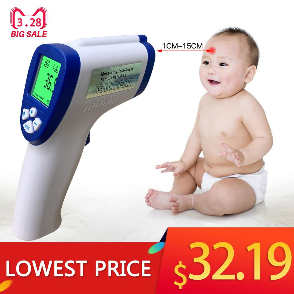 Infrared Thermometer Non-contact Digital Laser Temperature Gun With LCD Display, LCD Digital Thermometer For Body Temperature