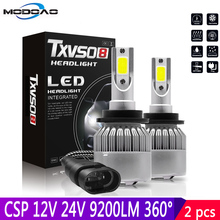 2 個 55 ワットD2S D2C D2R D4S D4C D4R車ledヘッドライト電球防水IP68 csp 6000 18k led dc 12v 24v 360 度 9200LM車の電球