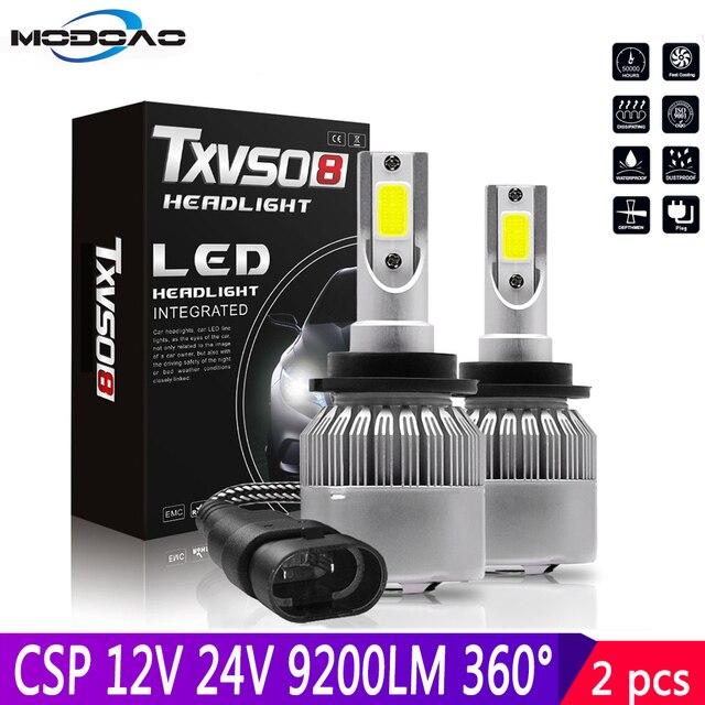 Ampoules pour voitures, phares de voiture, étanches IP68 CSP LED k 6000 DC 12V 24V LED degrés 9200LM, 2 pièces, 55W D2S D2C D2R D4S D4C D4R