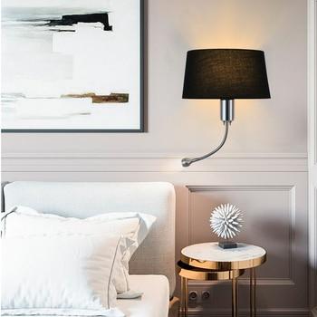 Eye Protection Night Light Led Wall Light Reading Light AC85-265v Fabric & Iron Plating Indoor Bedroom Office Desk Night Lamp