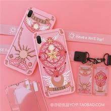 Coque de téléphone rose Sakura pour Xiaomi, compatible modèles Redmi note 7 /note 8pro, K20 pro, avec pendentif et longue sangle