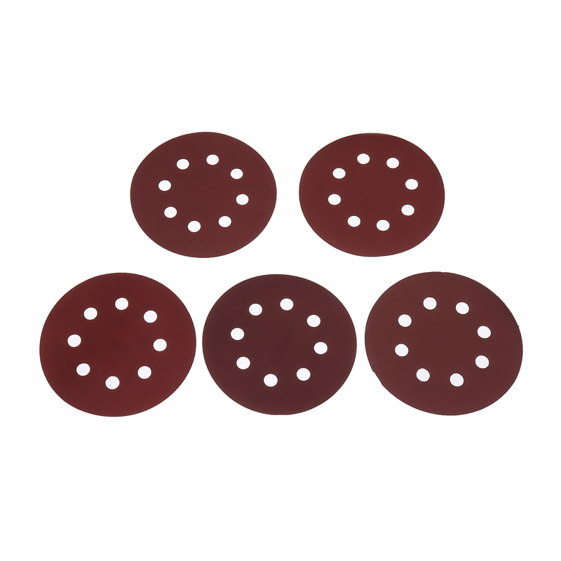 30pcs 8 Holes Sanding Discs Sandpaper Hook Loop Aluminum Oxide Grain Sanding Sheet Disk 800-2000 Grit Metal Cleaning Polishing