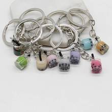 Creative charm beautiful cute simulation tea cup pendant lady bag key ring jewelry
