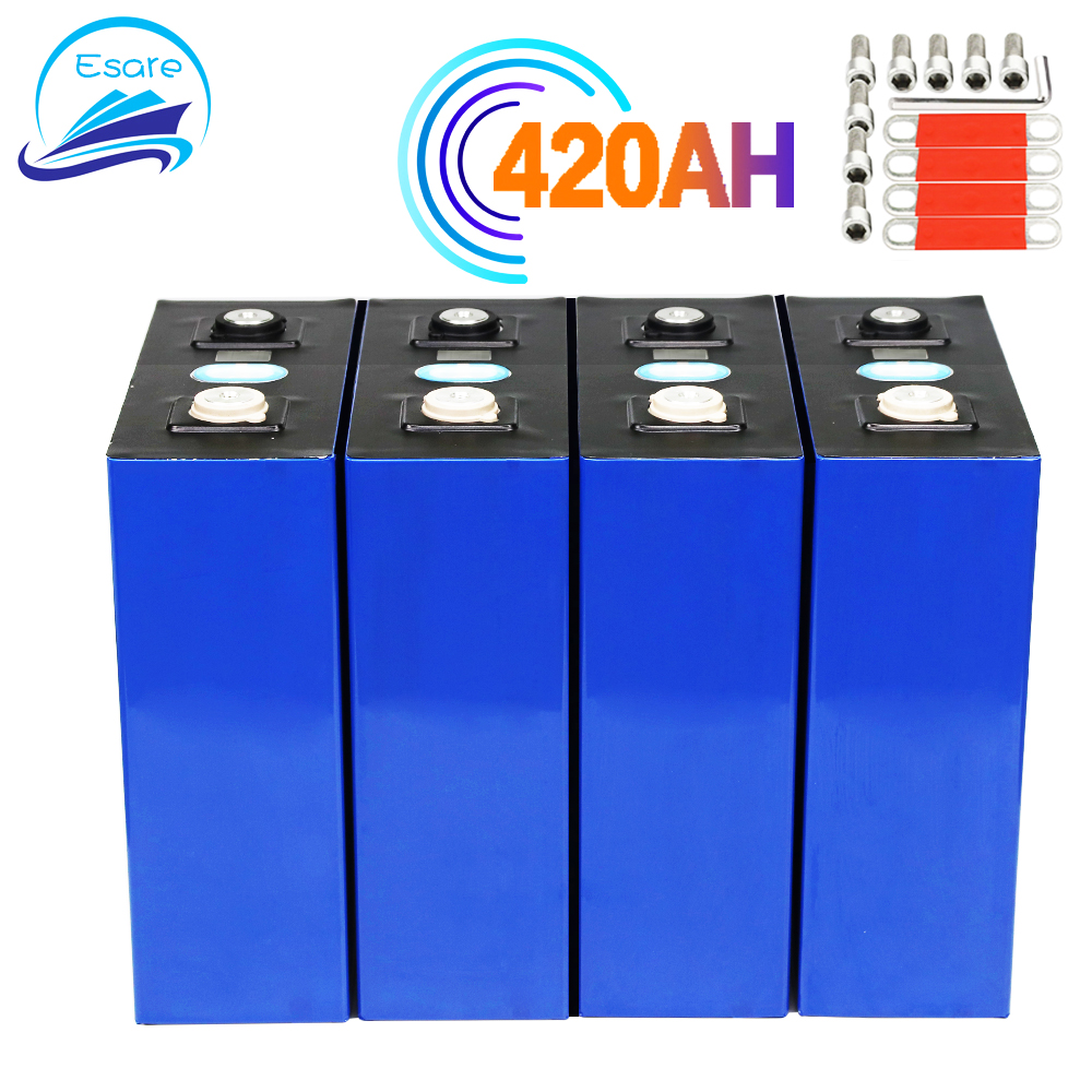 NEW 4pcs 3.2v 420ah Lifepo4 Rechargeable Battery Lithium Iron Phosphate Solar Cell 12v 24v 420ah Grade A Lifepo4 Cell Tax Free