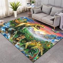 Nordic 3D Dinosaur carpet kids living room sofa bedroom kids play mat cartoon parlor large carpets hallway door mat style-3