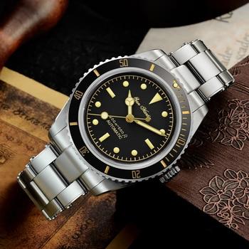 San Martin Diver Watch 6200 Retro Water Ghost Luxury Sapphire NH35 Men Automatic Mechanical Watches 20Bar Waterproof Luminous 3