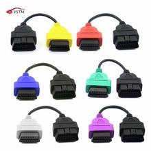 6 farbe Auto OBD2 Anschluss Diagnose Adapter Kabel für Fiat ECUScan und Multiecuscan für Fi zu Al fa ro meo und für Lan cia
