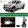 1 Pair Car Bulbs For Ford F350 F-350 Super Duty 2011 - 2020 Kit Hid LED Lamp Headlight Lights Bulbs Cars Low High Beam 6000k