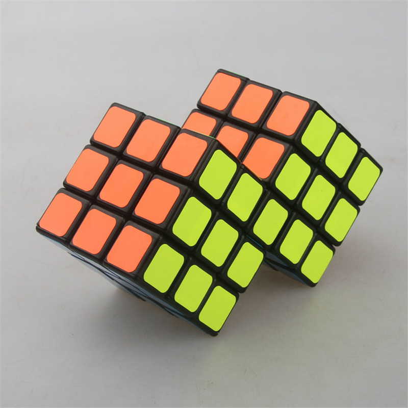 Cube Twist Double 3x3 Conjoined Magic Cube Speed Cube Puzzle Toy For Brain Training Cubo Magico  - BLACK