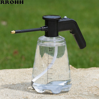 2L transparent Garden Electric Sprayer with long mouth Nozzle High Pressure Spray Bottle Gardening Flower Watering Can Water Pot